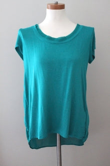 BORDEAUX for ANTHROPOLOGIE Light Summer teal tee