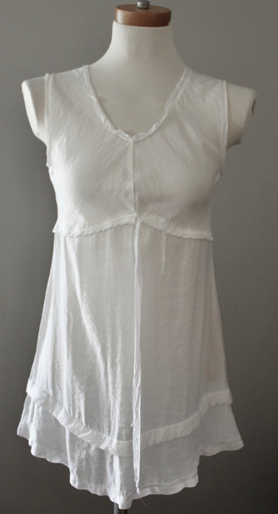 Light Summer Ruffle Hem Tunic/Dress