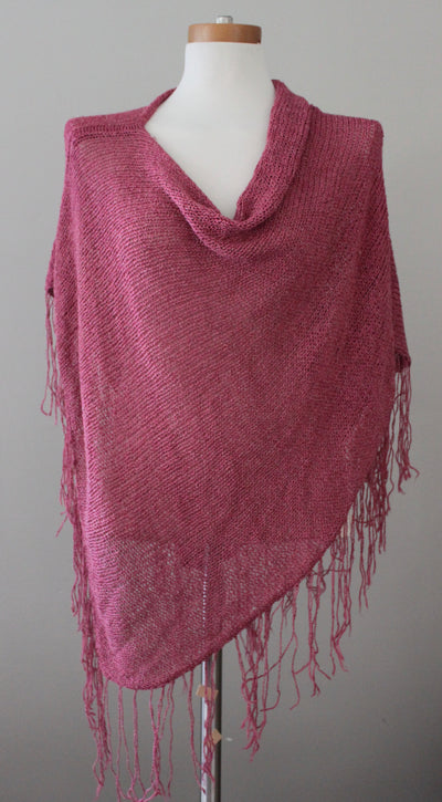 Cool Summer Open Knit Shawl