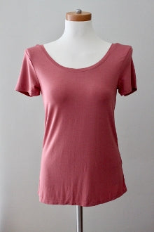 CABLE AND GAUGE Soft Autumn dark blush top