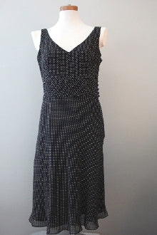 ANN TAYLOR Dark Winter  polka dot dress