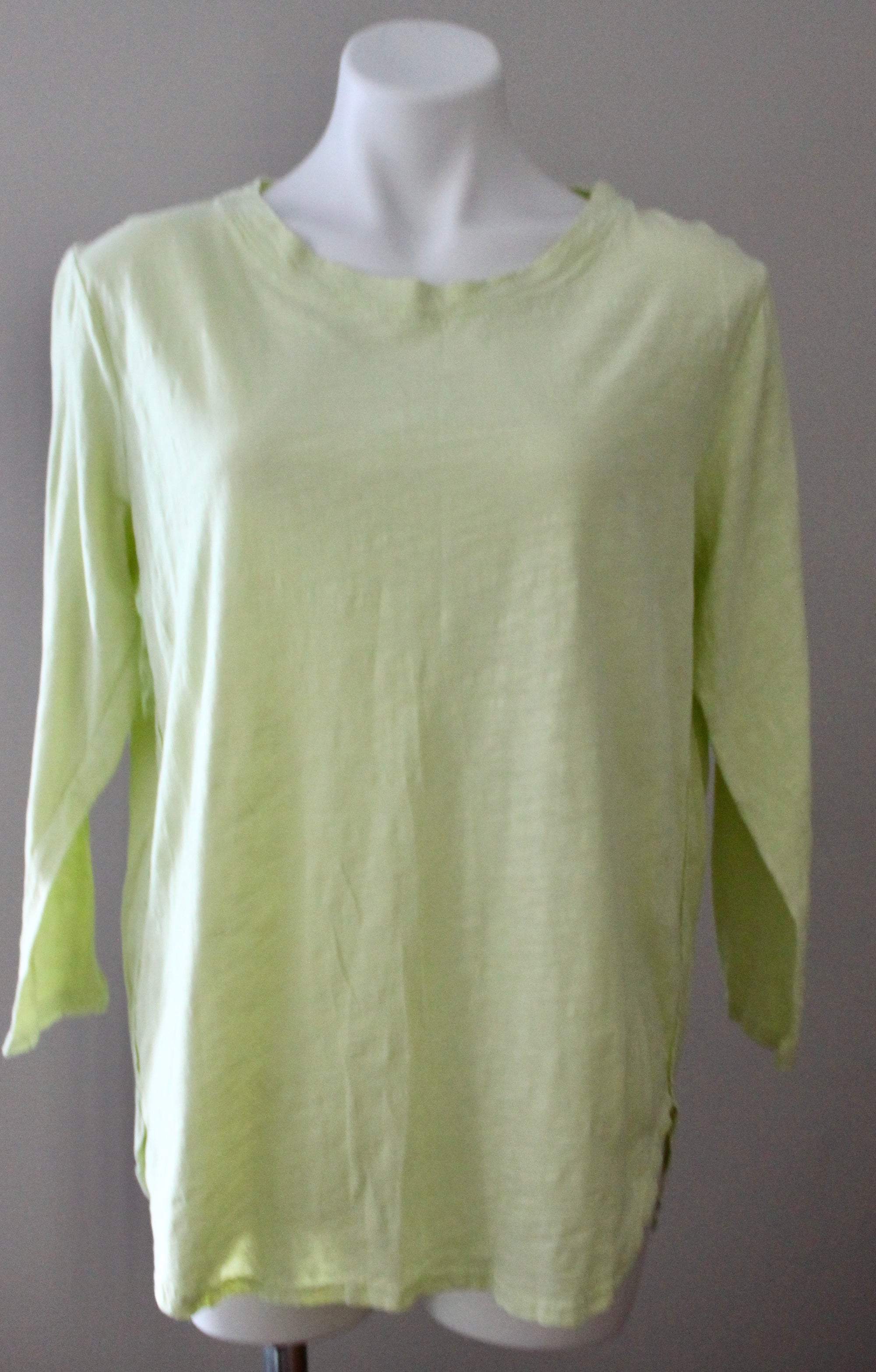 Warm Spring Green Cotton Tunic