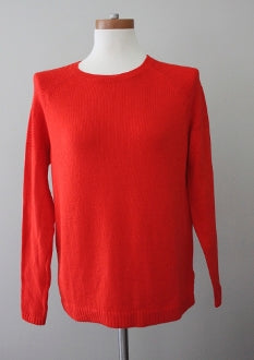 OLD NAVY bright spring orange Pull-over textured sweater