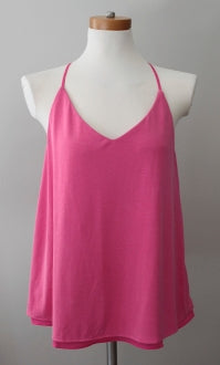 BANANA REPUBLIC Dark Winter pink silky top