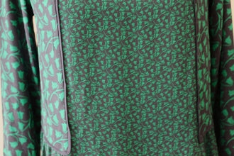 ANN TAYLOR LOFT Dark Winter green botanical top