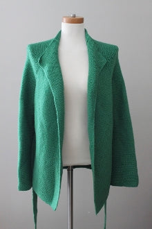 BODEN Bright Spring forest green sweater jacket
