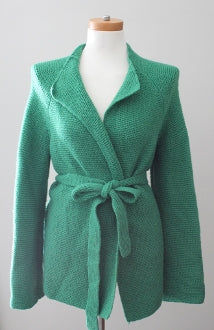 BODEN Bright Spring moss green sweater jacket