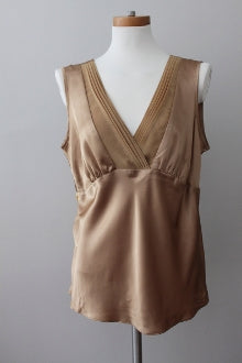 warm spring GEORGE Warm Spring silky sleeveless gold top
