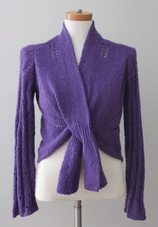 J JILL Soft Autumn grape wrap sweater