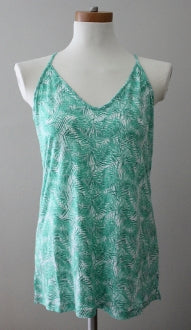 OLD NAVY Light Summer green print halter top