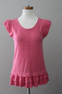 BANANA REPUBLIC light spring heathered blush top