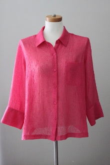 COLDWATER CREEK Light Summer hibiscus shirt