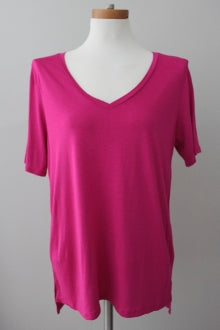GIBSON Bright Winter hot pink tee