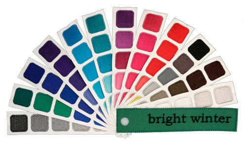 Indigo Tones Bright Winter Personal Color Swatch Book