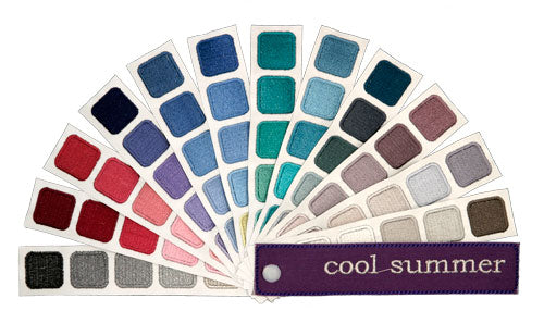 Indigo Tones Cool Summer Personal Color Swatch Book