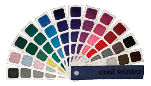 Indigo Tones Cool Winter Personal Color Swatch Book