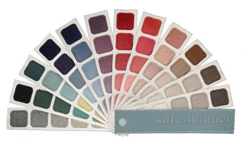 Indigo Tones Soft Summer Personal Color Swatchbook