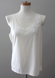 J CREW Light Spring embroidered ivory top
