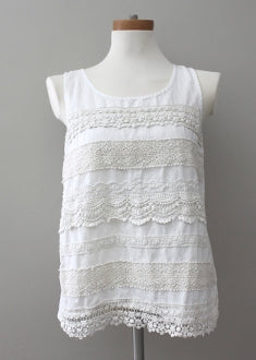MYSTREE for ANTHROPOLOGIE Soft Summer ivory top