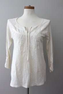 warm spring LUCKY BRAND  ivory boho top