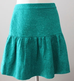 J CREW Light Summer embossed jade skirt