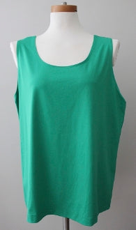 CHICO'S Bright Spring green stretchy shell top