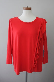 CECE by CYNTHIA STEFFE Bright Spring magma red top