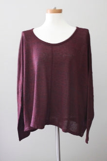 OLD NAVY Dark Autumn marin berry sweater