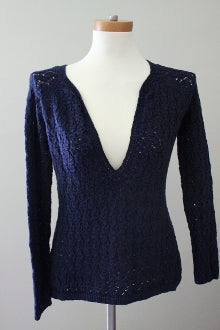 ANN TAYLOR LOFT Dark Autumn midnight sweater