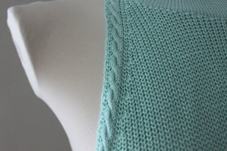 COTTON  EMPORIUM Cool Summer mint halter sweater