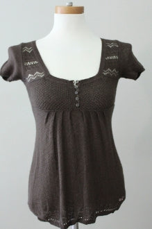 HOLLISTER Soft Autumn mocha short sleeved sweater