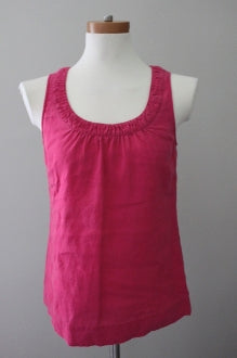 BODEN Dark Winter mulberry Sleeveless linen blouse