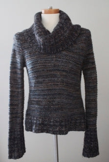 ANN TAYLOR LOFT Dark Autumn patterned cowl sweater