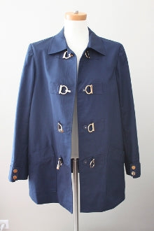 JONES NEW YORK SIGNATURE Dark Autumn navy trench coat