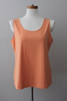 warm spring CHICO'S  sleeveless peach shell top