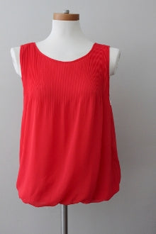 Warm Spring MAX STUDIO  persimmon sleeveless top
