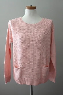 HALOGEN Light Spring pink gossamer sweater