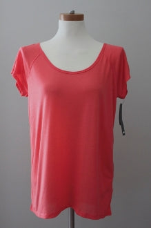 warm spring SUPPLIES pink grapefruit scoop neck tee