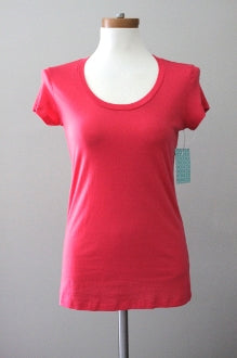 warm spring SUSINA pink short sleeved t-shirt
