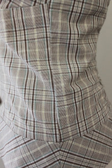 GUESS Light Spring plaid halter top