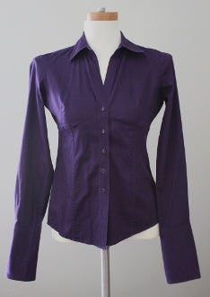 BANANA REPUBIC Dark Winter  plum shirt