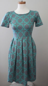 LULAROE Cool Summer aqua print dress