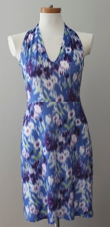 VIERECK Dark Winter floral print dress.