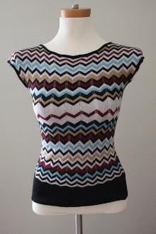 MICHELLE NICOLE Dark Winter zig-zag print sweater