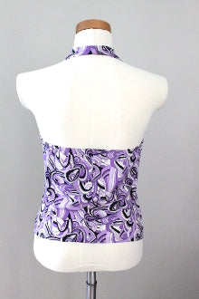 TETAM Cool Winter purple print halter top