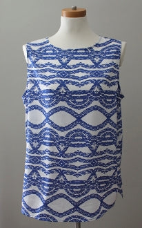 ANN TAYLOR Light Summer nautical print top