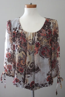 DRESS BARN gold stitched top