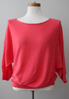 warm spring JEANNE PIERRE coral sweater