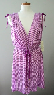 JONES NY cool winter purple stripe cover up