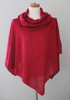 WOVEN HEART cool winter raspberry poncho